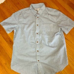 Men's seersucker button down short sleeve